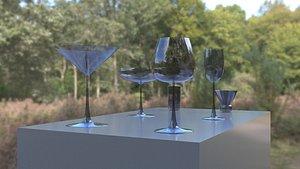 Drinking Glasses 3D model