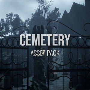 cemetery pack 3D model