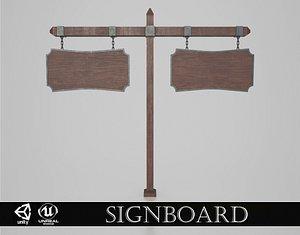 Medieval Signboard v5 model