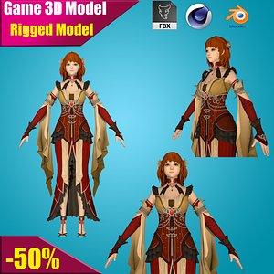 3D warrior maiden
