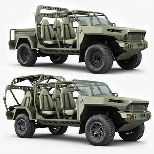 3D Chevy Colorado ZR2 military ISV collection model