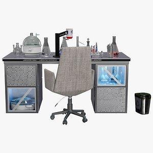 Modern Laboratory Table 3D