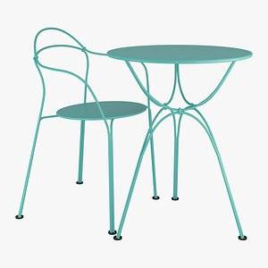 Fermob Airloop Chair And Table 3D model