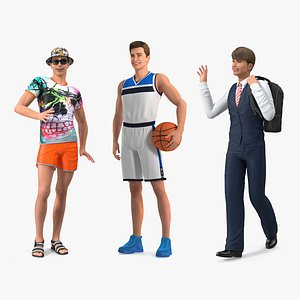 3D Teenage Boys Rigged Collection 2