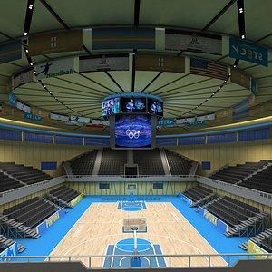 basketball stadium 02 3D model