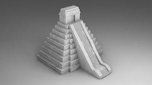 3D architecture pyramids model