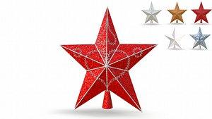 star christmas tree holiday 3D