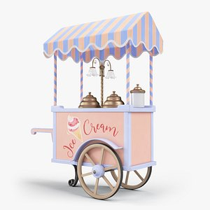 3D Ice cream handcart