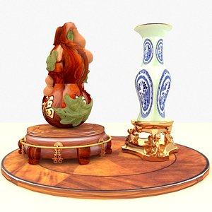 3D gourd vase model