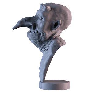 3D fantasy bust model