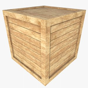 Wooden Crate 5 With PBR 4K 8K 3D model