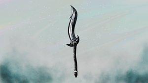 3D sword yin yang model