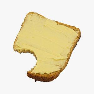 toast margarine 01 bitten 3D model