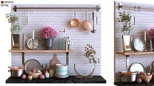 kitchen set 005 3D model