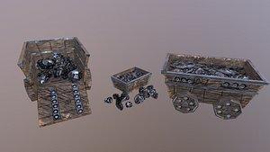 Iron Mine Cart 3D