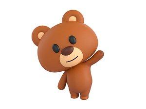 rigged bear character 3D