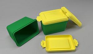 3D Food packaging box