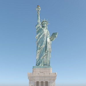 3D model Statue of Liberty in New York City