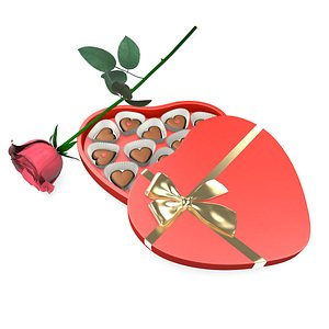 valentine s chocolate box 3D model