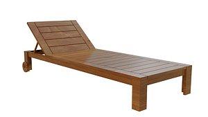 3D Wooden Beach Chair