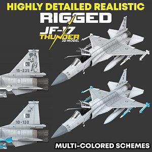 pakistan jf-17 rigged 3D model