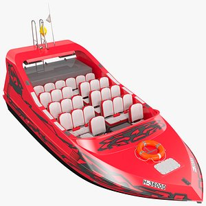 Speed Jet Boat 3D model