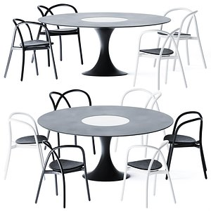 Dining Table Manzu by Alias 3D model