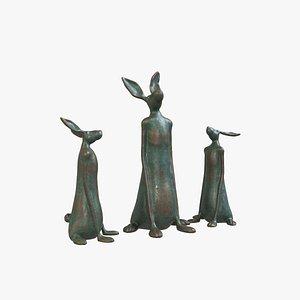 3D model Sculpture Rabbit V1