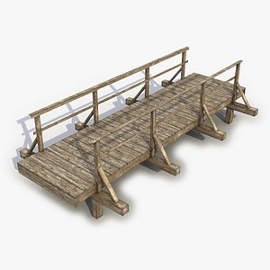 3D bridge wood wooden
