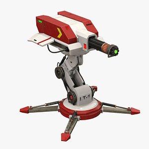 sci-fi 3D model