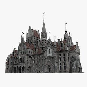 3D Gothic Castle 02