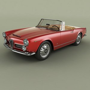 3D Alfa Romeo 2600 Touring Spider model