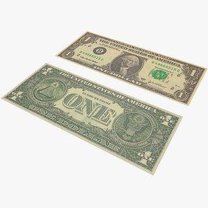 Money One Dollar With Pbr 4K 8K model