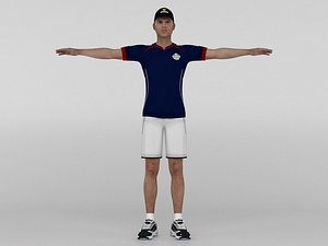 Male Tennis Player model