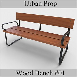 wood bench woodbench 3D model