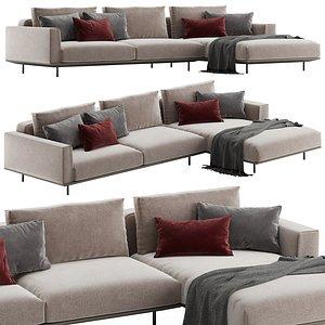 Rolf Benz Volo corner sofa 3D model