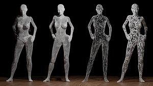women abstract 3D model