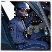 Airwolf Pilot Female