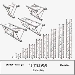3D model Straight Triangle Truss Collection