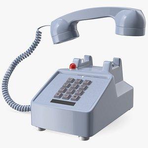 3D Retro Telephone Off Hook