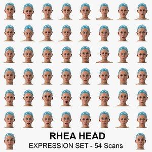 rhea clean scans expression 3D