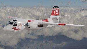 S-2T Cal Fire Bomber 3D model