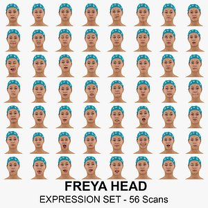 Freya Real Head Full Expression Set 56 RAW Scans Collection model
