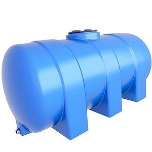3D Horizontal Water Storage Tank 7 model
