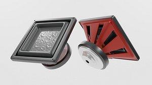 Speaker Woofer Square 06 - Blender 3D model