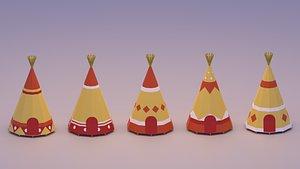 indian teepee pee 3D model