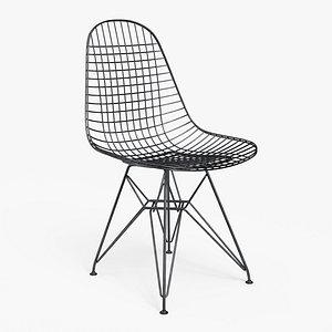 3D Wire Chair DKR Black - PBR
