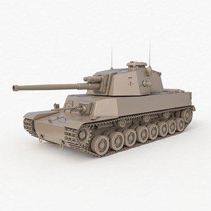 Tank Type 5 Chi-Ri Japan Clay Vray model