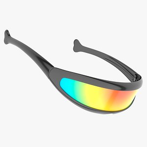 futuristic cyclops shield sunglasses 3D model
