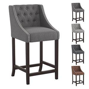 Bar stool Carmel Series 30 inch 3D model